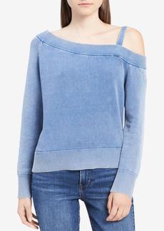 Calvin Klein Jeans Cotton One-Shoulder Sweater