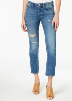 Calvin Klein Jeans Cotton Ripped Button-Up Jeans