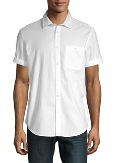 Calvin Klein Cotton Short Sleeve Sport Shirt