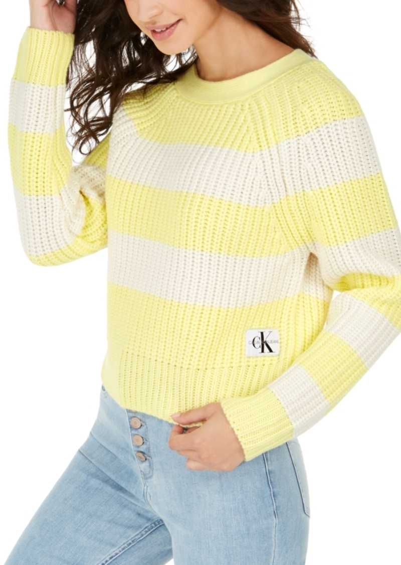 Calvin Klein Jeans Cotton Striped Chunky-Knit Sweater