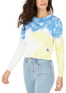 Calvin Klein Jeans Cotton Tie-Dyed Sweater