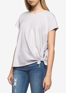 Calvin Klein Jeans Cotton Tie-Hem T-Shirt