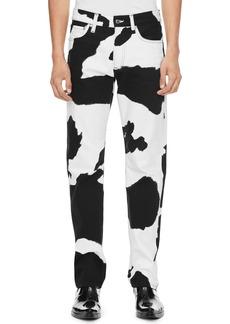 Calvin Klein Jeans Cow Print Straight Leg Jeans