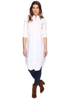 Calvin Klein Jeans Crisp White Midi Button Down Long Sleeve Woven Shirt