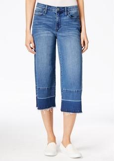 Calvin Klein Jeans Cropped High Tide Wash Released-Hem Wide-Leg Jeans