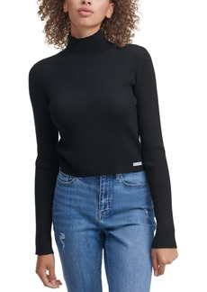 Calvin Klein Jeans Cropped Mock-Neck Sweater
