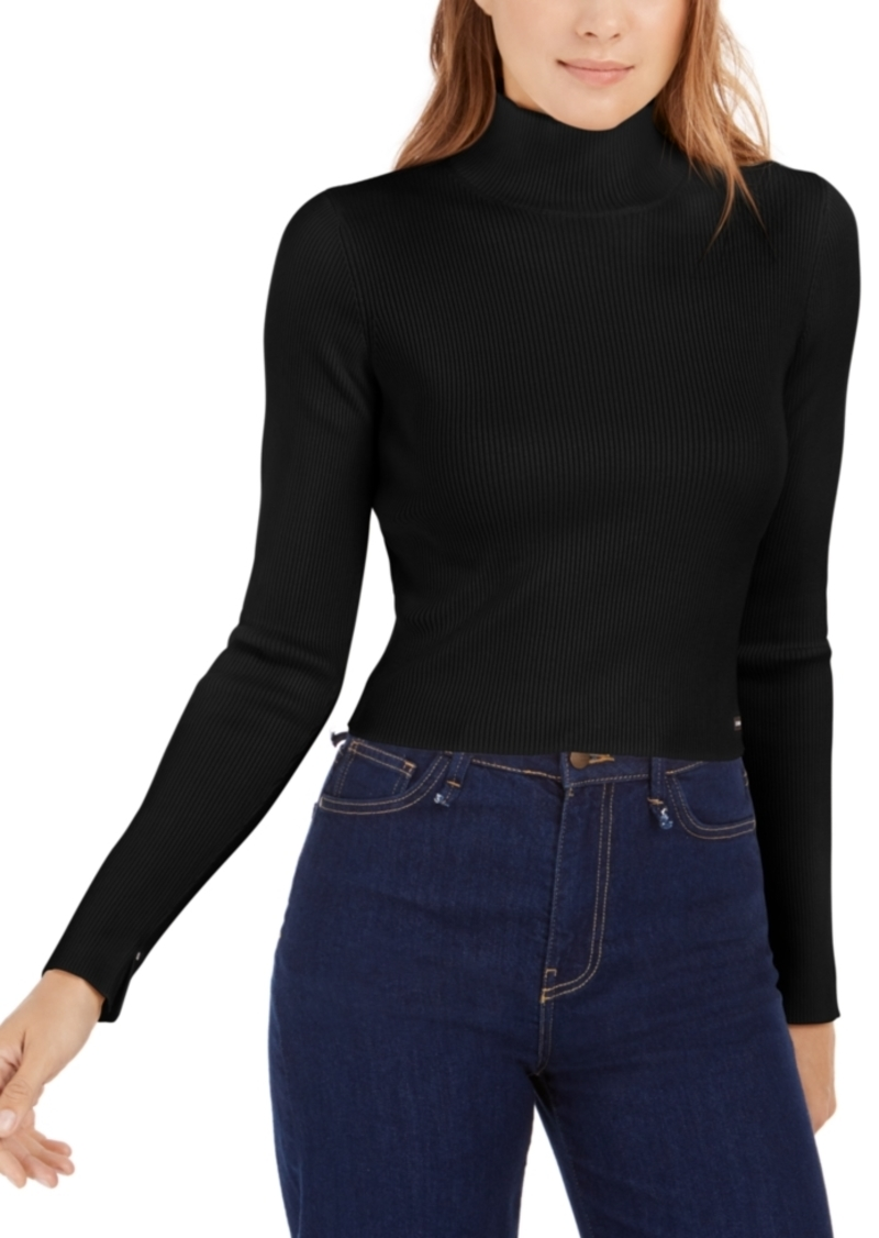 Calvin Klein Jeans Cropped Mock Neck Sweater