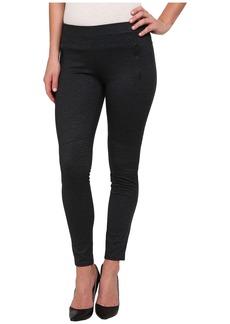 Calvin Klein Jeans Denim Ponte Panelled Leggings in Raw Indigo