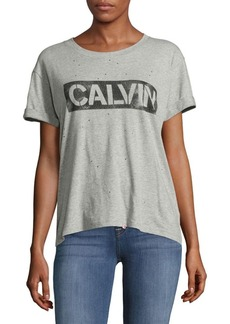 Calvin Klein Jeans Embellished Drop-Shoulder Tee