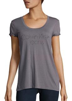 Calvin Klein Jeans Embellished Logo T-Shirt