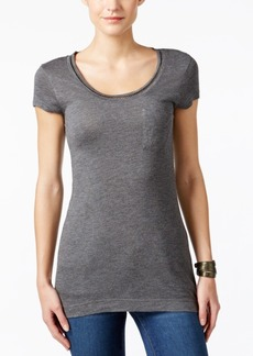 Calvin Klein Jeans Embellished Scoop-Neck T-Shirt