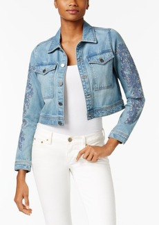 Calvin Klein Jeans Embroidered Cropped Denim Jacket
