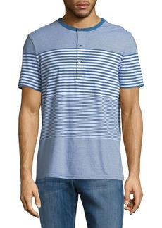 Calvin Klein Jeans Engineered Striped Cotton Henley