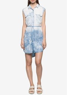 Calvin Klein Jeans Faded Denim Utility Shirtdress