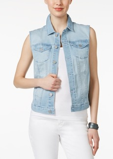 Calvin Klein Jeans Faded Sky Wash Denim Trucker Vest