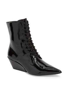 Calvin Klein Jeans Faith Pointy Toe Laced Bootie (Women)