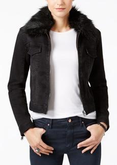 Calvin Klein Jeans Faux-Fur-Trim Moto Jacket
