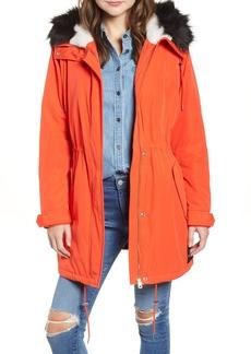 Calvin Klein Jeans Faux Fur Trim Parka