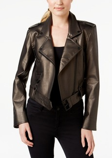 Calvin Klein Jeans Faux-Leather Moto Jacket