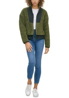 Calvin Klein Jeans Faux-Sherpa Contrast Jacket