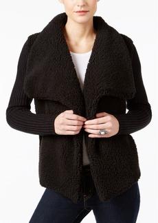 Calvin Klein Jeans Faux-Sherpa Mixed-Media Jacket