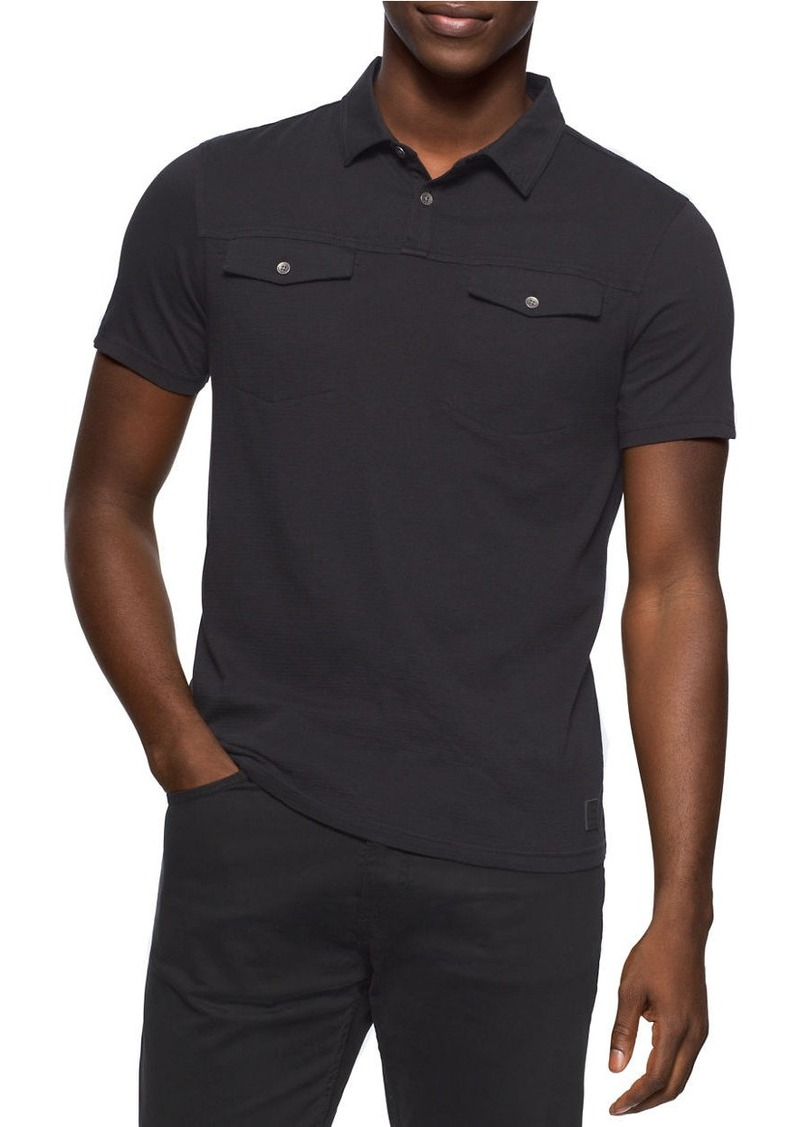 CALVIN KLEIN JEANS Feeder Stripe Polo T-Shirt