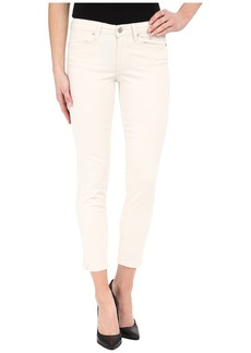 Calvin Klein Jeans Five-Pocket Cropped Color Driver Jeans in Misty White