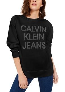 Calvin Klein Jeans Fleece-Lined Graphic Sweater