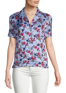 Calvin Klein Jeans Floral Button-Down Blouse