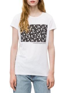 Calvin Klein Jeans Floral Logo Block Tee