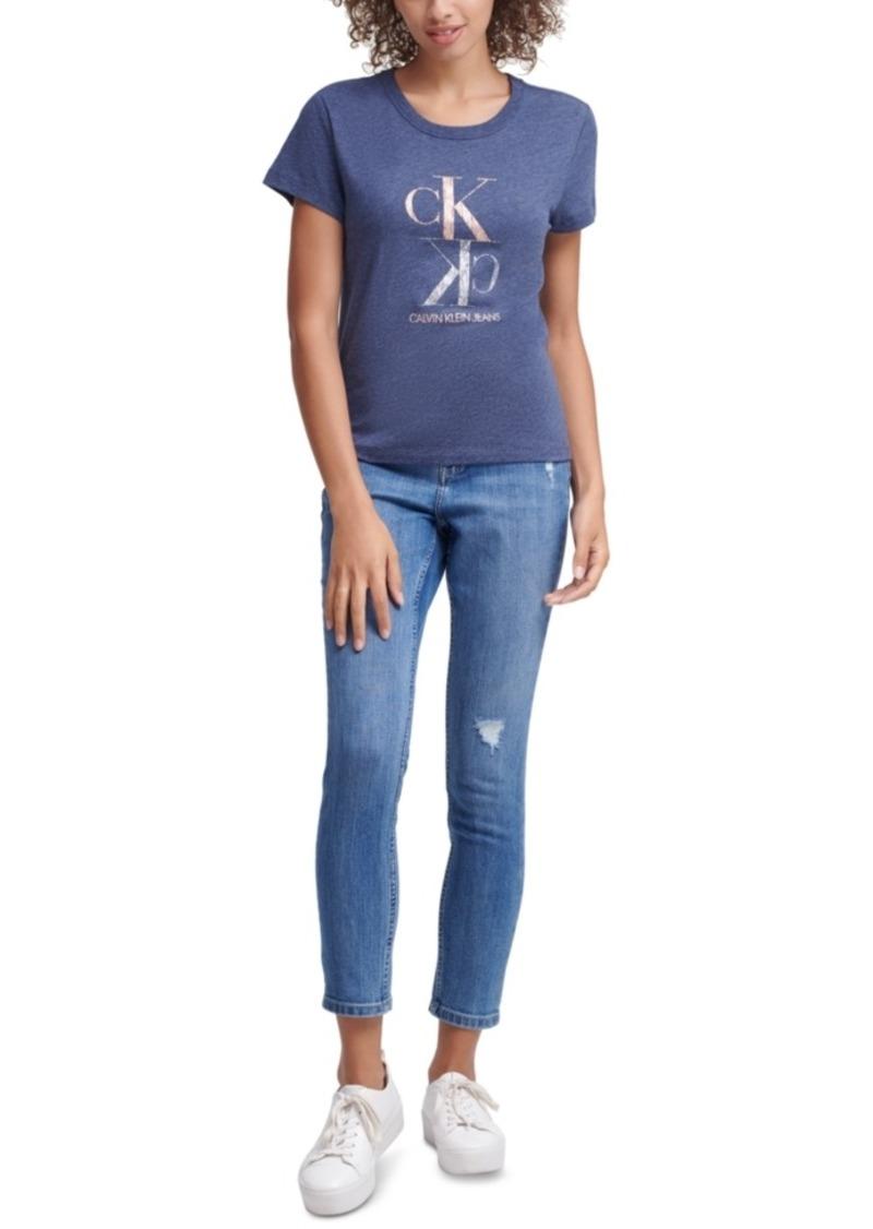 Calvin Klein Jeans Foil Logo Crewneck T-Shirt