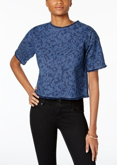 Calvin Klein Jeans Frayed Denim Cropped Top