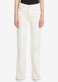 Calvin Klein Jeans Frayed Straight-Leg Jeans