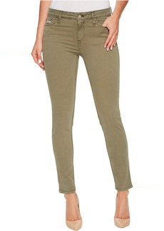 Garment Dyed Ankle Skinny Pants in Ivy Mist