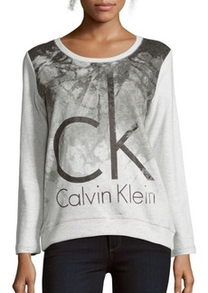 Calvin Klein Jeans Graphic Printed Cotton Sweatshirt