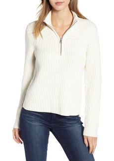 Calvin Klein Jeans Half Zip Wool Blend Sweater
