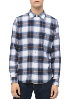 Calvin Klein Jeans Herringbone-Check Regular Fit Shirt