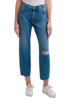 Calvin Klein Jeans High-Rise Mom-Fit Cotton Ankle Jeans