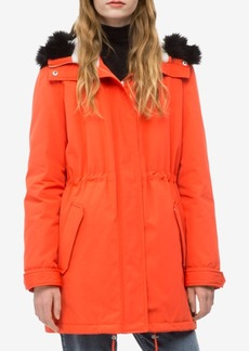 Calvin Klein Jeans Hooded Faux-Fur Parka Jacket