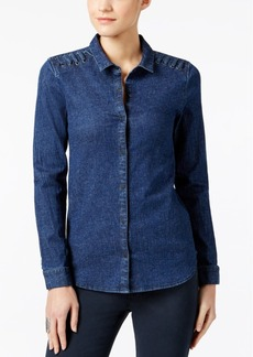 Calvin Klein Jeans Lace-Up Denim Shirt