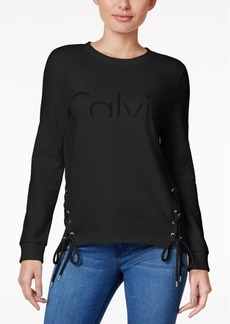 Calvin Klein Jeans Lace-Up Logo Sweatshirt