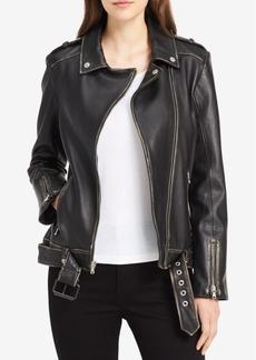 Calvin Klein Jeans Leather Moto Jacket