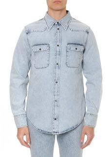 Calvin Klein Jeans Light Wash Cotton Denim Shirt