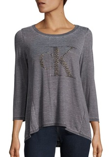 Calvin Klein Jeans Logo High-Low Hem T-Shirt