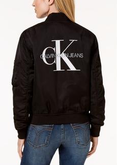 Calvin Klein Jeans Logo-Print Bomber Jacket