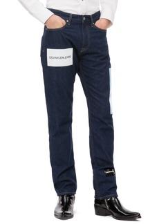 Calvin Klein Jeans Logo Print Straight Leg Jeans