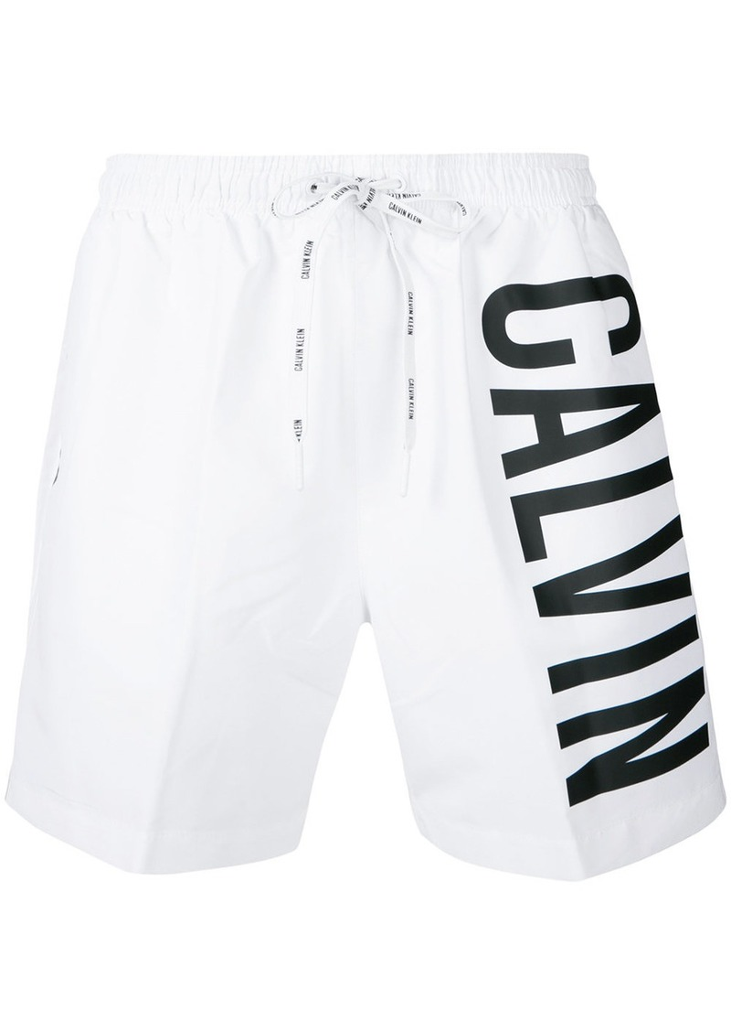buy online 4f4a3 ec305 Jeans logo swim shorts - White