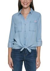 Calvin Klein Jeans Logo-Tape Chambray Shirt