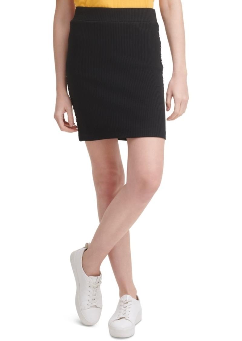 Calvin Klein Jeans Logo-Tape Mini Skirt