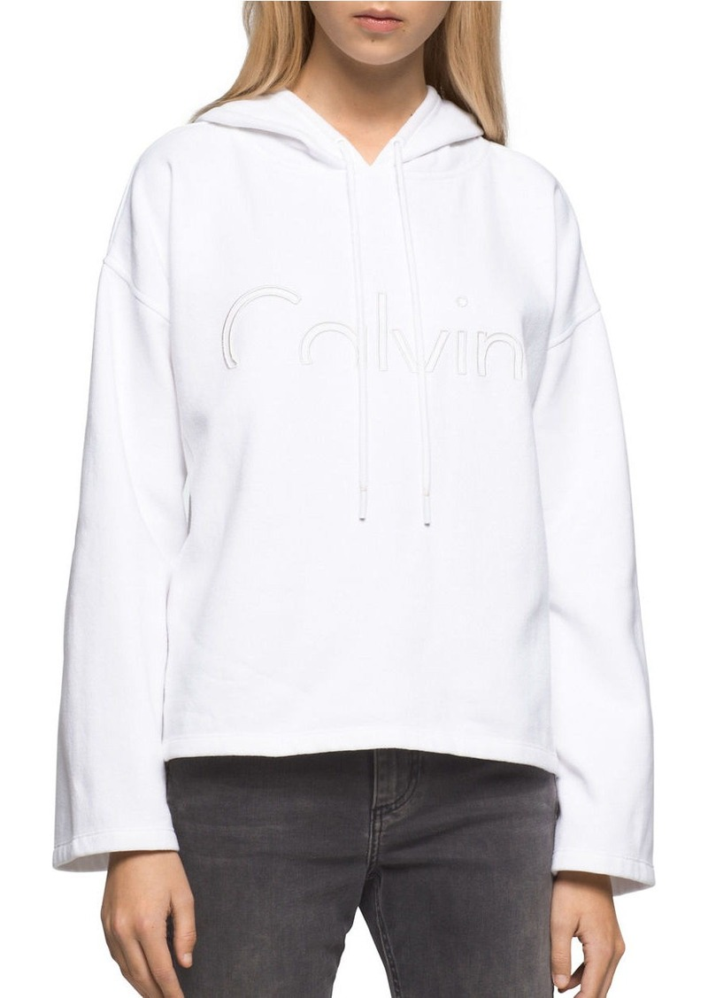 CALVIN KLEIN JEANS Long-Sleeve Cotton-Blend Hoodie